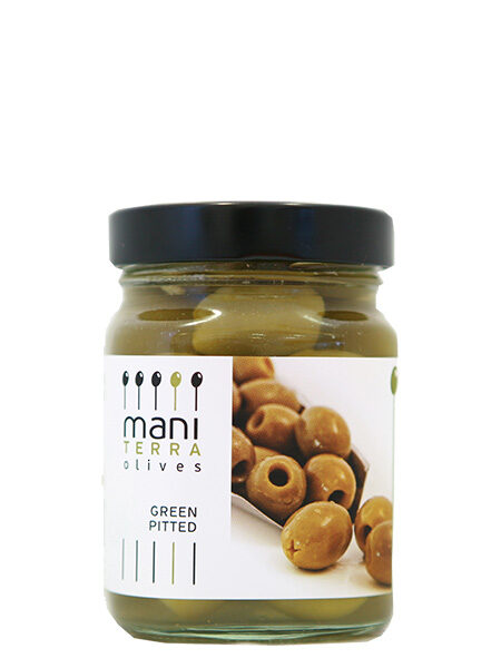 Mani Terra Green Olives Pitted 190g
