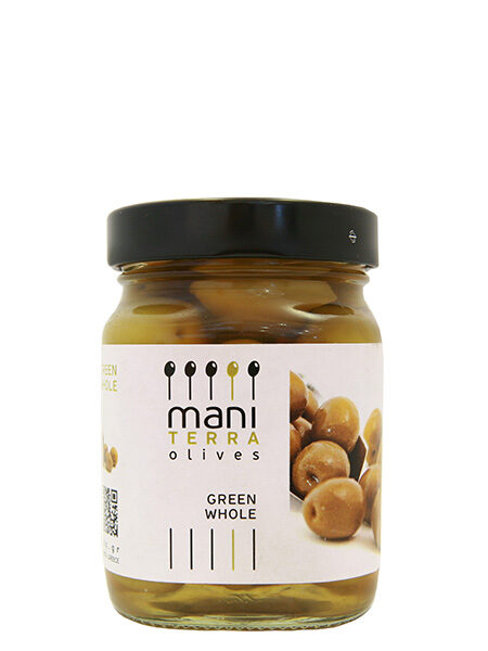 Mani Terra Green Olives Whole 200g