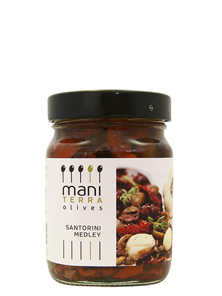 "Mani Terra ""Santorini Medley"" Olives with Capers&Sundried tomatoes 200g"