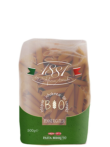 1881 Penne Rigate Whole wheat Organic Pasta 500g