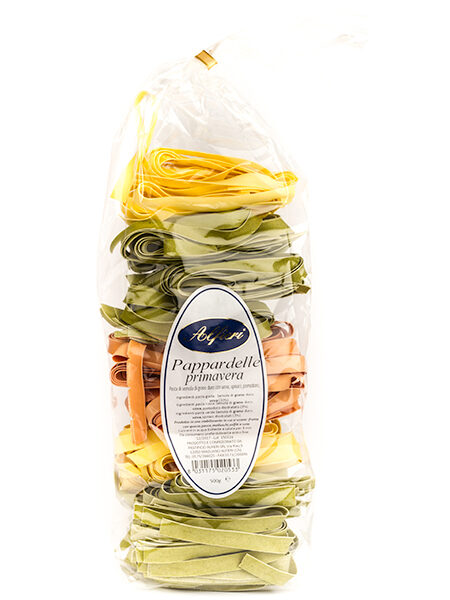 Pappardelle Pasta three colors 500g