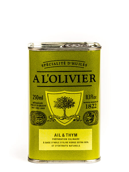 A L'Olivier Olive Oil Garlic&Thyme 250ml