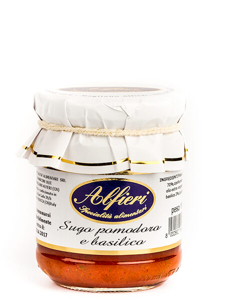 Alfieri Natural Sauce Tomato and Basil 180g