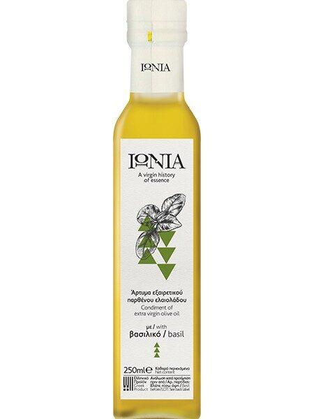 Ionia evoo with basil 250ml