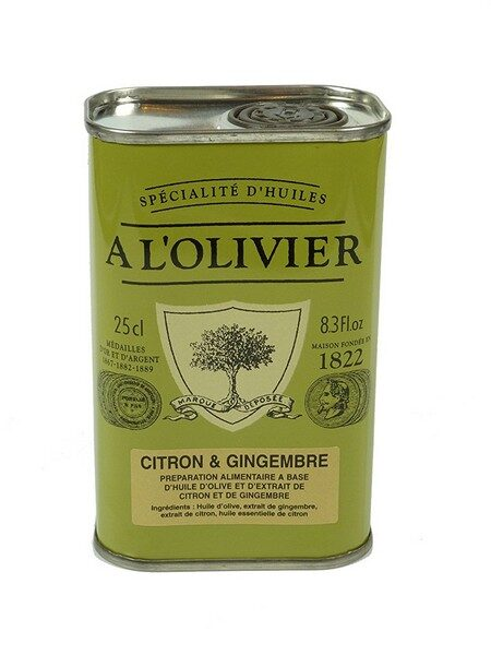 A l'Olivier olive oil with Lemon & Ginger 250ml