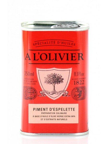 Espelette pepper olive oil 250ml
