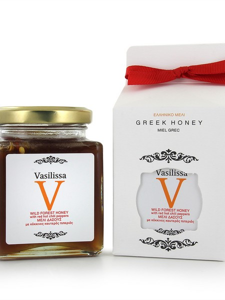 Vasilissa wildforest honey with red hot chili pepper 250g