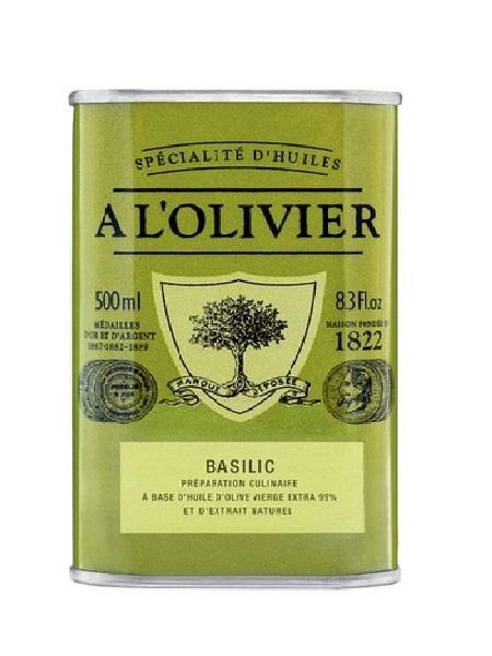 A l'Olivier Huile d'olive Basilic de Provence 500ml
