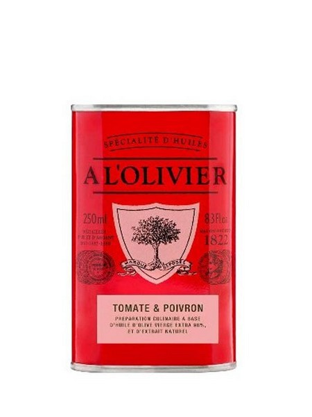 A l'Olivier Tomato & bell pepper infused olive oil 250ml