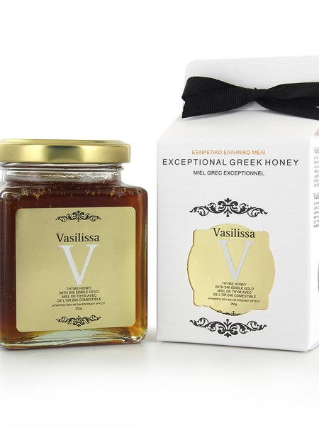 Vasilissa honey with edible gold 24K 250g