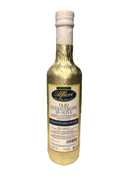 Alfieri Huile d'olive 100% Italian gold wrapped 500ml