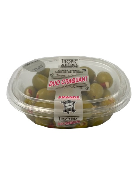 Tropic Apéro olives farcies aux amandes et poivrons 250g